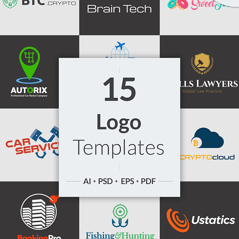 15 Niche Business Logo Designs Bundle