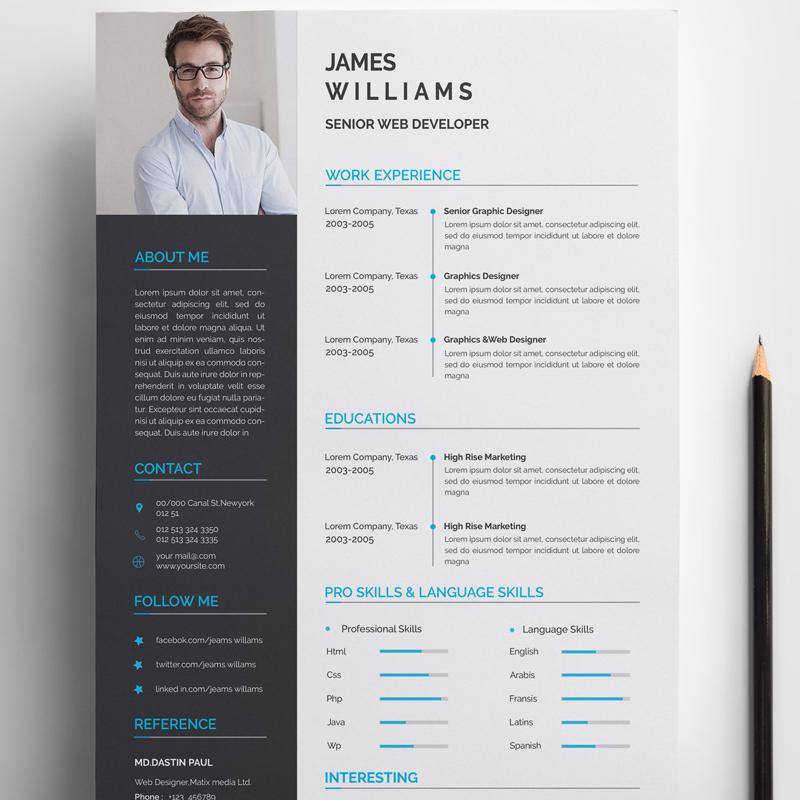 James Resume Template