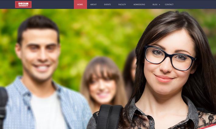 Dream University : free HTML5 bootstrap template