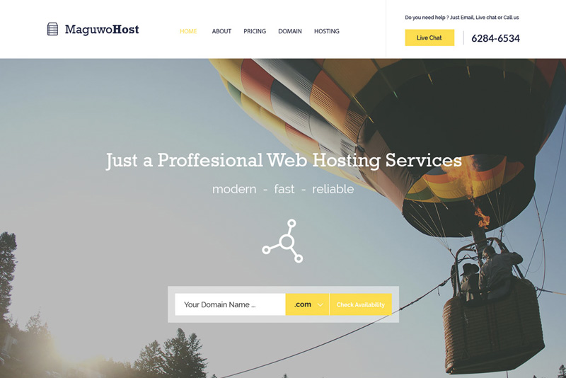 Maguwohost : free web hosting template