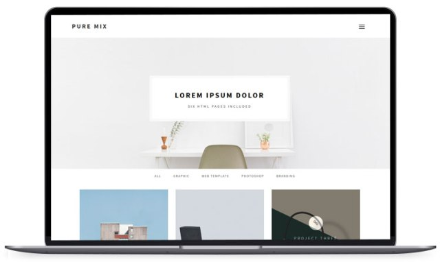 Pure Mix : 6 different paged mixed HTML template