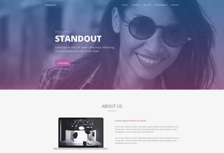 Standout : free multipurpose single page template