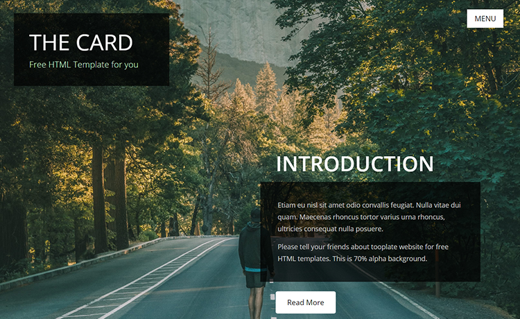The Card Portfolio : free creative HTML template