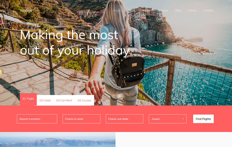 Free Travel Template - Voyage