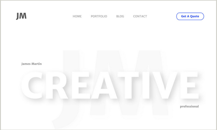 Creative Personal PSD template