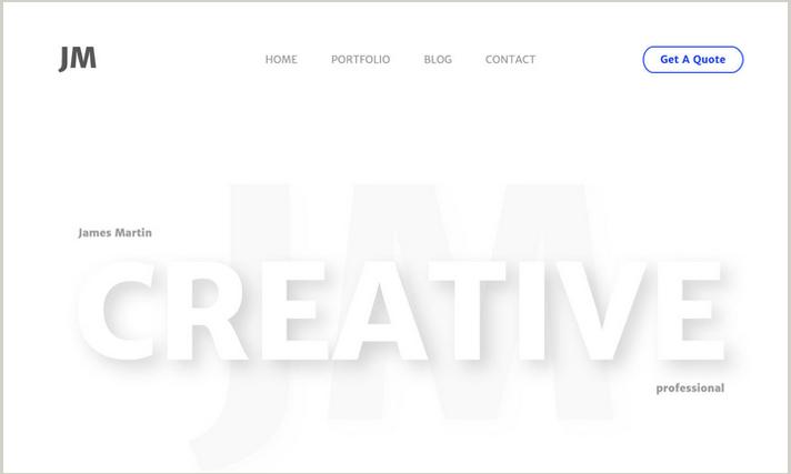 Creative Personal PSD template