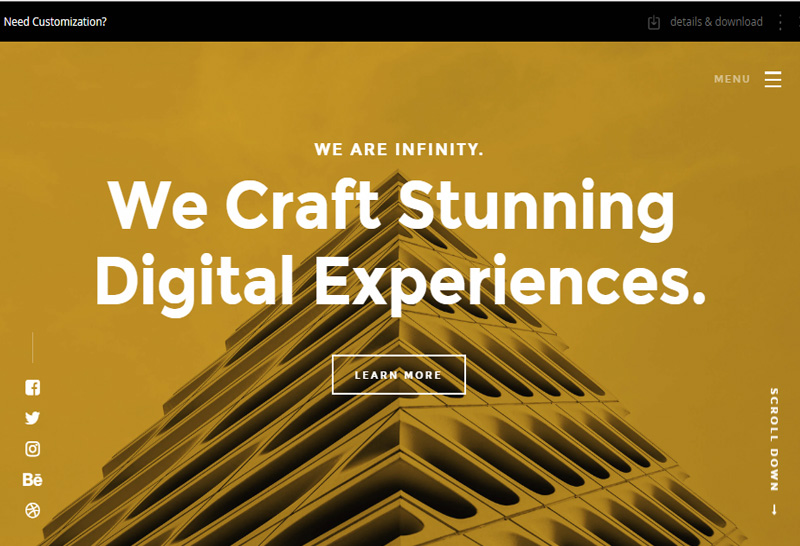 Infinity Free CSS Template
