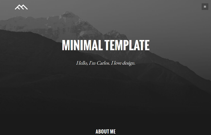 Minimal Dark - small and simple HTML template