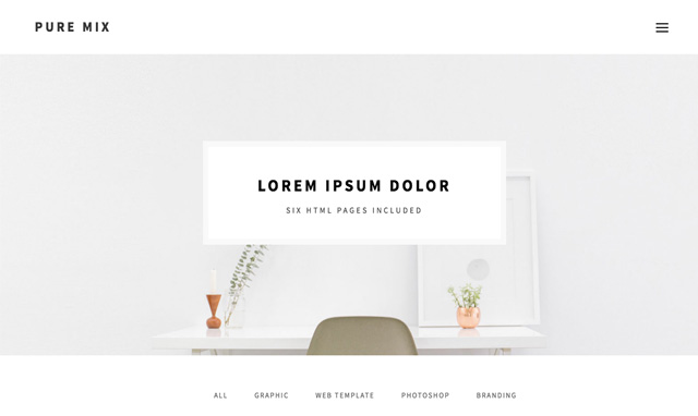 Pure Mix HTML Template