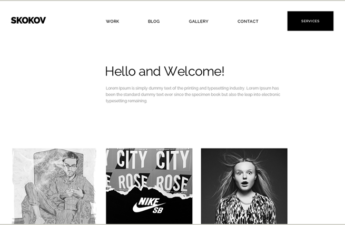 Skokov Black and White PSD Template