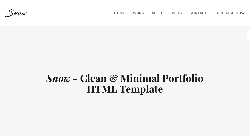 Snow : HTML Bootstrap Template