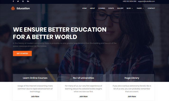 Free CSS Education Template