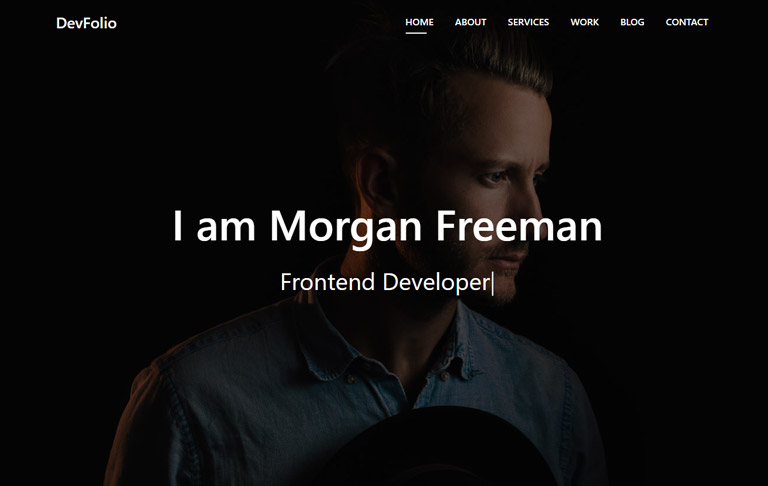 free css template for Portfolio - DevFolio