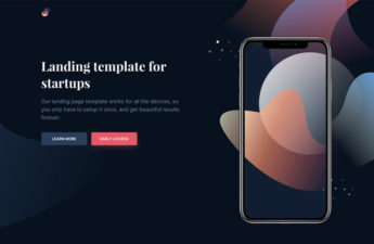 Free CSS Mobile Landing App Page
