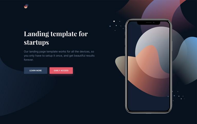 Free CSS Mobile Landing App Page