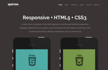 Free Mobile Landing Page CSS Template