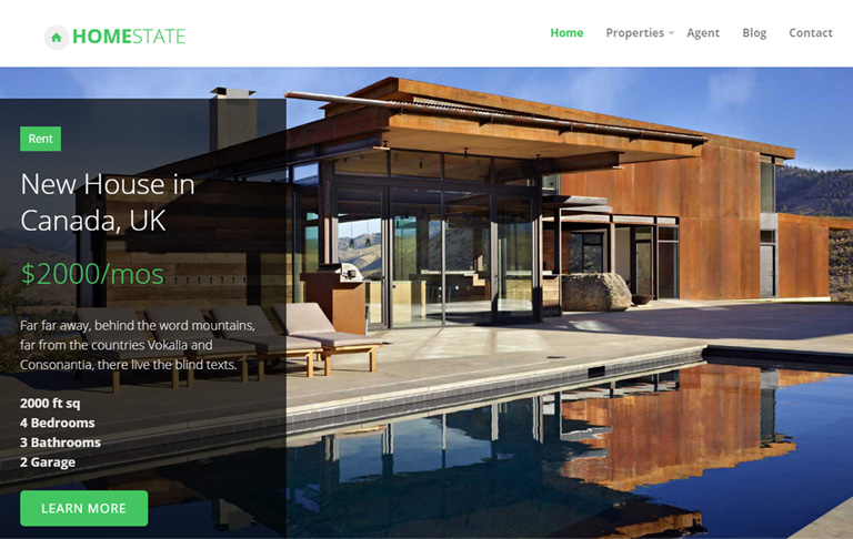 free css real estate template