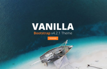 one-page bootstrap css theme