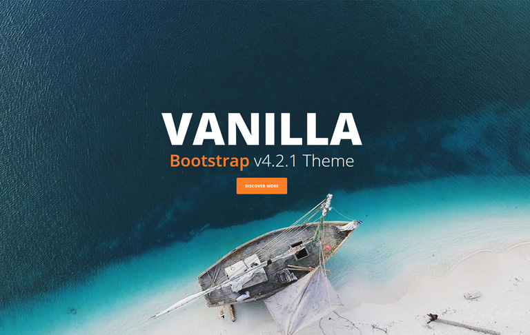 free css one-page Vanilla