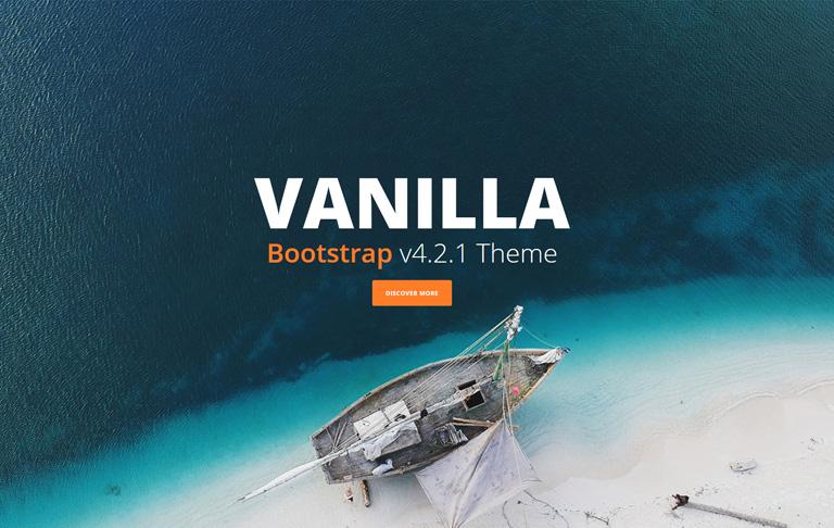 free css one-page Vanilla