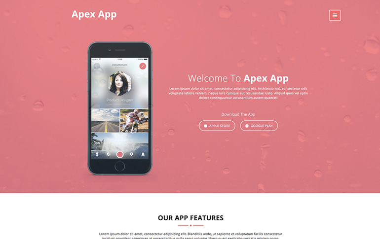 free mobile app css templates