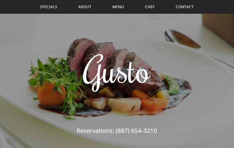 free css template for restaurant or bar website