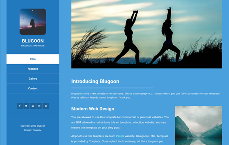 free css one page/minimal website template