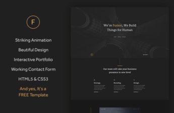 free css portfolio theme