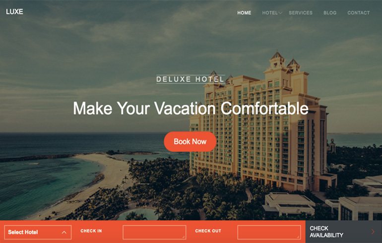 hotel css templates toocss