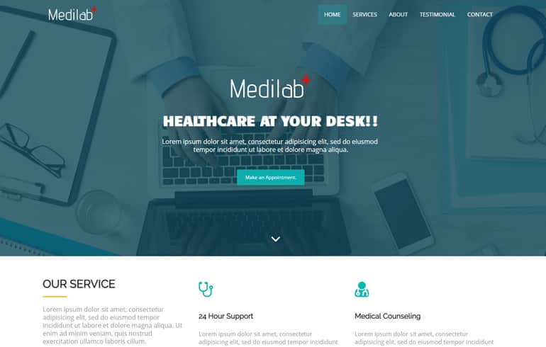 free medical theme