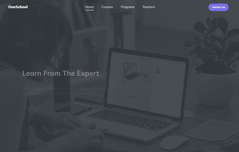 free css3 parallax website theme