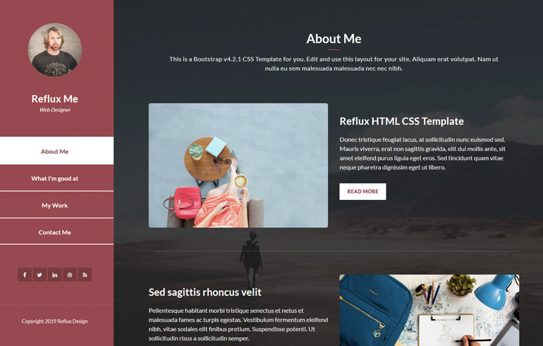 One-Page - Free CSS Templates - Too CSS
