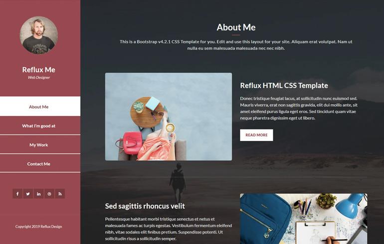 free css for portfolio website