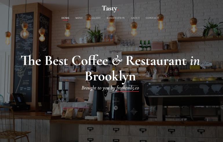 free restaurant website template