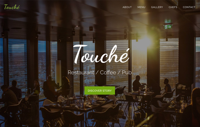 free css Food Website template