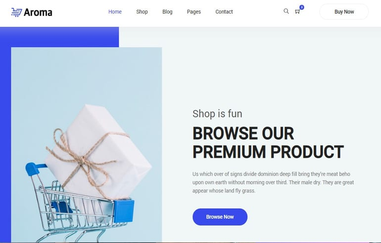 free css online store Website template
