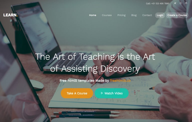 free education theme : Education - Free CSS Templates
