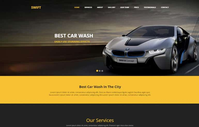 free css automotive Website template