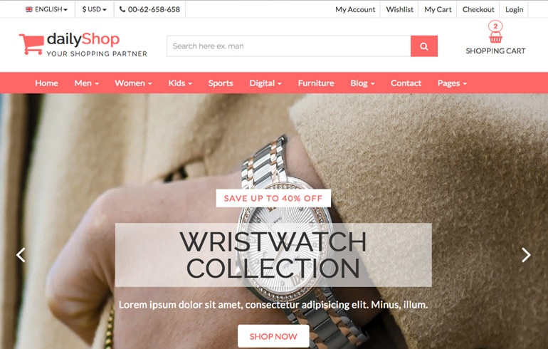 Online Shop - Free CSS Templates