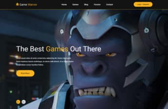Free Gaming Website Templates