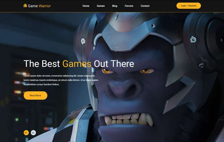 free CSS templates for game website
