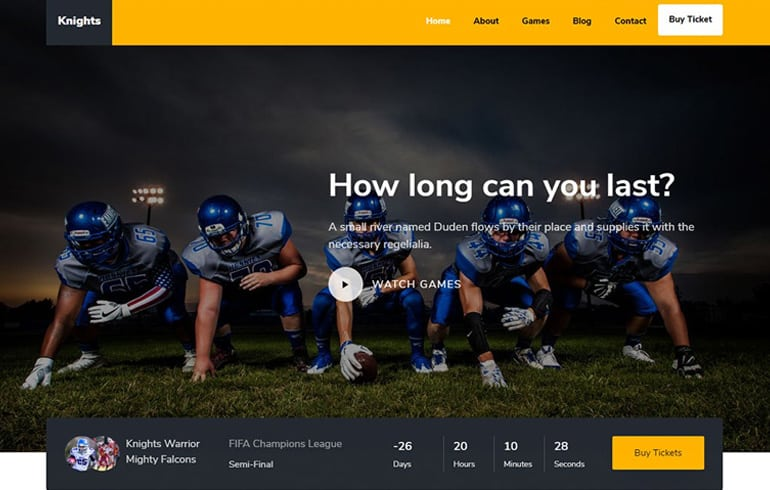free HTML5 CSS3 templates for game websites