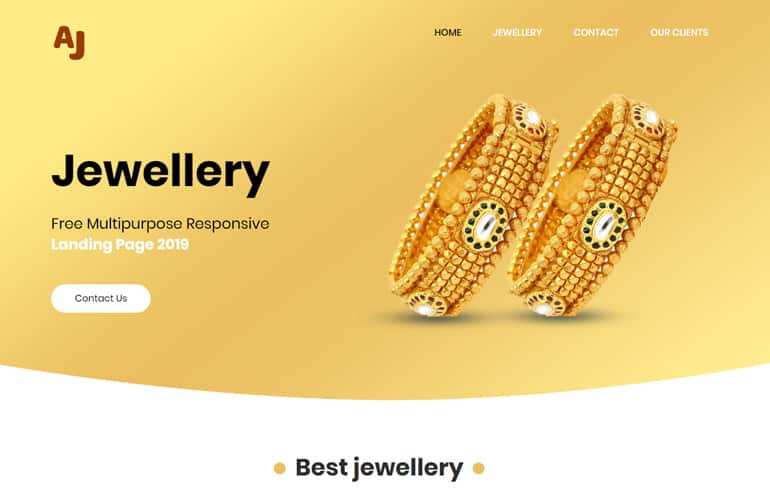 free Online Jewelry Store Template