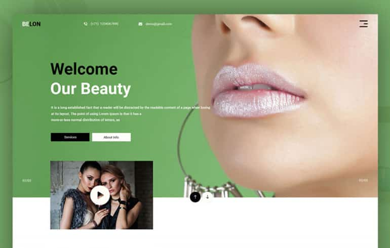 Beauty PSD Template : Free PSD Website Templates