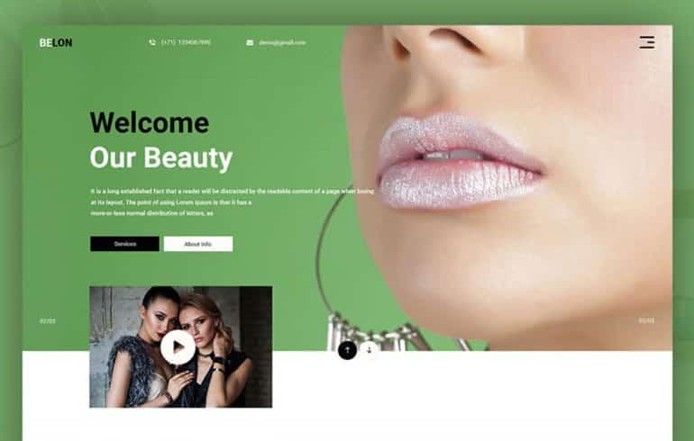 Beauty PSD Template : Free PSD Website Templates