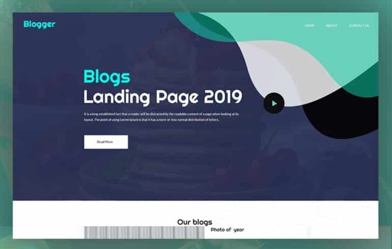 Free PSD Template for Bloggers : Free PSD Website Templates