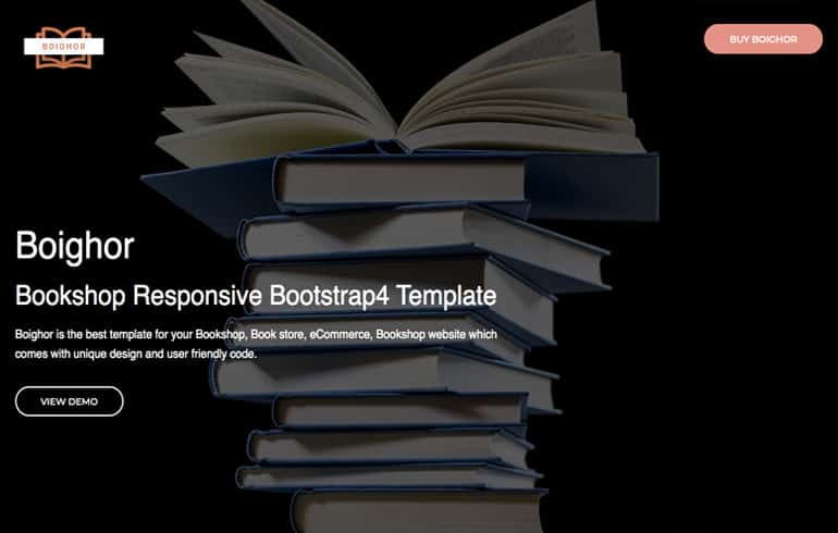free Online Book Store Template