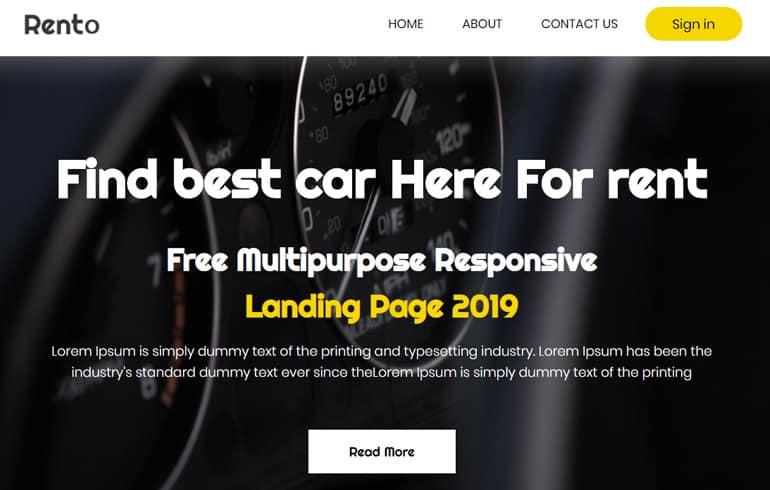 free css tax service Website template