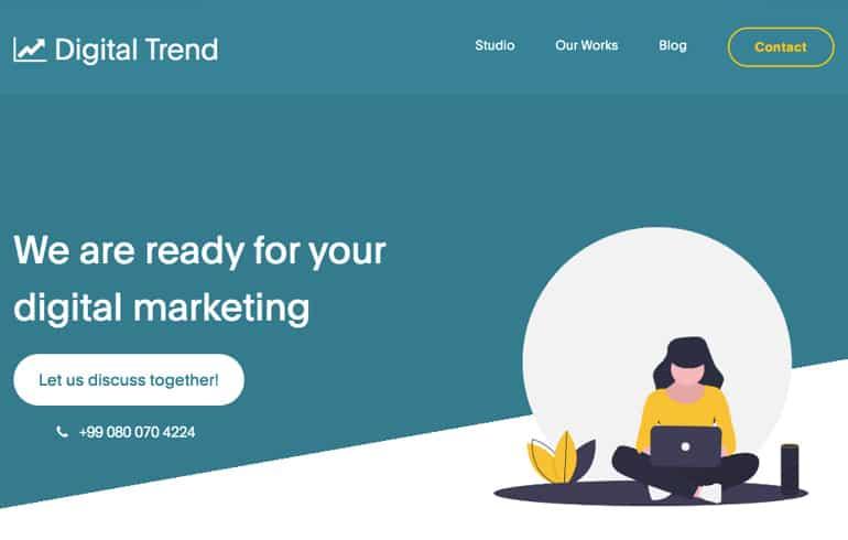 fFree Digital Marketing Website Templates