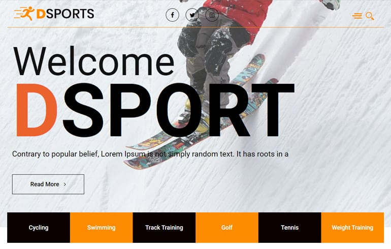 Sports and Fitness Templates : free HTML5 templates for sport events